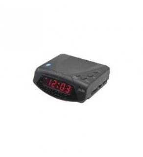 Jwin JL204 BLACK AM-FM Alarm Clock Radio