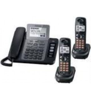 Panasonic KX-TG9472B 2-line Cordless Phone with Contact Sync with 2 Handsets FOR 110-220 VOLTS