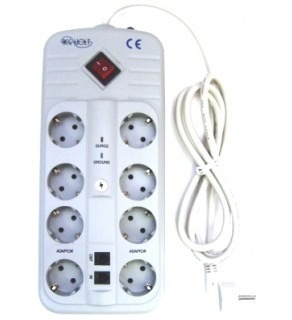 Regvolt Universal 8-Outlet Power Strip with 420 Joules Surge Protector