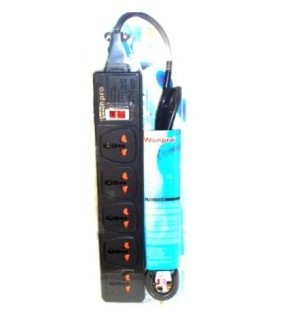 Wonpro 5-Outlet Universal Power Strip, Surge Protector, UK, Iraq plug