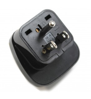 Regvolt Shucko Universal adapter to North America NEMA 5-15 US grounded Adapter Plug - Black