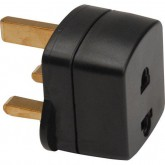 Non-Grounded American or European to Grounded UK Power Plug Adapter