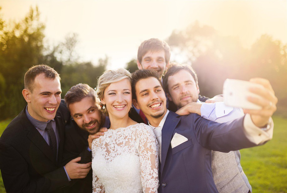 Wedding Party Selfies