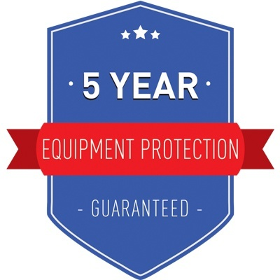 5 Year Equipment Protection Guarantee
